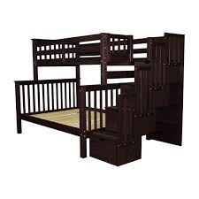 Bunk Bed With Trundle Bedz King Stairway Twin Over Full Bunk Bed With Trundle U0026 Reviews