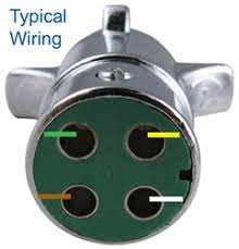 how to wire 4 way round pin trailer wiring connector pk11409