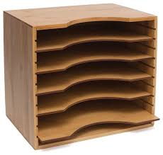File Dividers For Filing Cabinet Bamboo File Organizer With 5 Dividers Transitional Filing