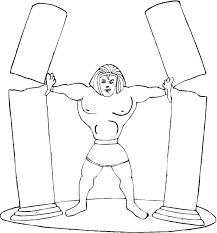 samson coloring page vbs carnival pinterest sunday