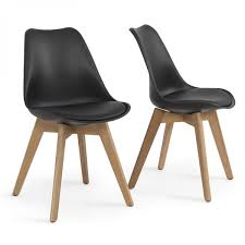 set of 2 modern dsw molded plastic eiffel wooden leg side chairs w