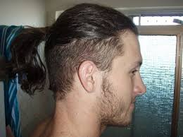 ponytail haircut for me shaved sides long hair on top shaved on sides men body hairstyles pinterest