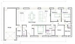 plan plain pied 4 chambres plan maison de plain pied 4 chambres 15 maison contemporaine avec