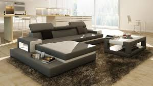 Coffee Table For Sectional Sofa Gray Sectional Sofa With Coffee Table Modern Living Room Los