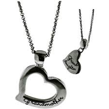 grandmother and granddaughter necklaces connections from hallmark stainless steel inscribed grandmother