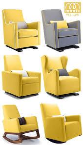 Rocking Chair Nursery Modern Monte Modern Nursery Furniture Glider Rocker Yellow Someone