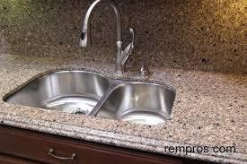Quartz Kitchen Countertop With Quartz Backsplash And Undermount Sink - Quartz backsplash