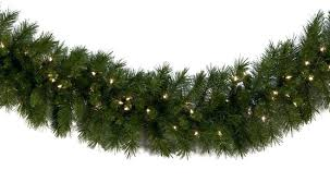 lighted christmas tree garland lighted christmas garland dunhill fir prelit led christmas garland
