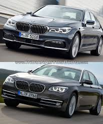 2016 bmw 7 series vs 2014 bmw 7 series front quarter old vs new