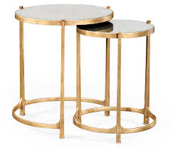 furniture round nesting tables modern oval coffee table