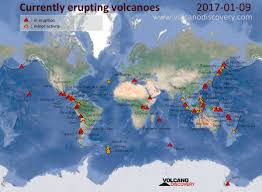 Map Of Bali Volcanic Activity Worldwide 9 Jan 2017 Fuego Volcano