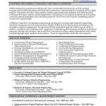 Project Manager Resume Templates Construction Project Manager Resume Template Project Manager Cv