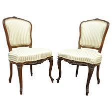 Louis 15th Chairs Pair Of 19th Century Carved Walnut French Louis Xv Style Side