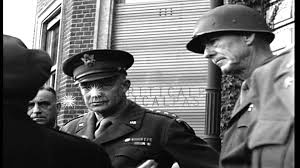 king george vi us army general dwight d eisenhower greets united kingdom king