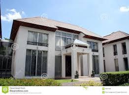 oriental style modern house stock photo image 9687966