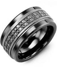 Black Gold Wedding Rings by Men U0027s Black Diamond U0026 Tungsten Carbide Wedding Ring With 10kt