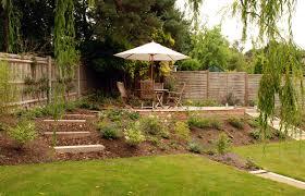 Decking Ideas For Sloping Garden Dealing With Sloped Gardens Cox Garden Designs