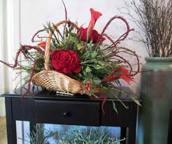 christmas artificial flower centerpieces best images collections