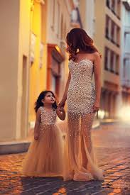champagne evening dress mother daughter matching dresses peals