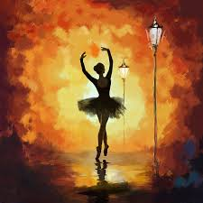 catf painting ballet dancer by corporate art task force canvas