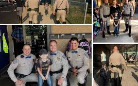 chp officers walk son of partner who died in crash to the