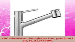 Kwc Ono Kitchen Faucet Kwc Hebelmischer Auszugbrause Luna Ganzchrom A 220 10211033000fl