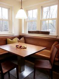 pleasing tufted dining banquette on dining room corner breakfast