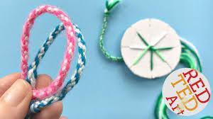 diy bracelet with thread images Easy how to make friendship bracelets with a cardboard disk diy jpg