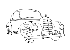 car mercedes old coloring page vintage car printable free