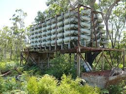 abandoned mineral sand extraction plant on bribie island north of