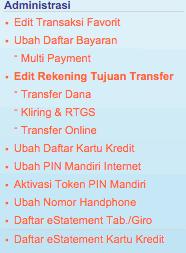 email mandiri di internet banking bank mandiri ternyata tidak bisa mengganti