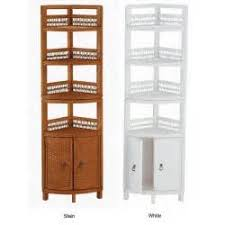 wicker two door bathroom corner shelf 10121059 corner bathroom
