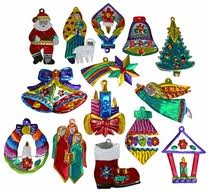 mexican tin ornaments