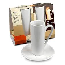 Cappuccino Cups by Amazon Com Konitz Coffee Bar Latte Macchiato Cups Saucers Set