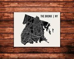 Bronx Map The Bronx Map Art Print U2014 Mr City Printing