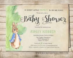 rabbit invitation rabbit baby shower invitations rabbit baby shower
