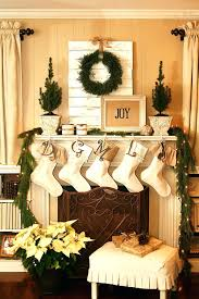fireplace cosy xmas decorations for fireplace for inspirations
