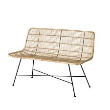 sofa 120 cm bloomingville black rattan bench sofa 120cm