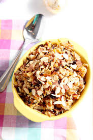 fruit salads for thanksgiving wild rice salad with dried fruit and almonds the speckled palate