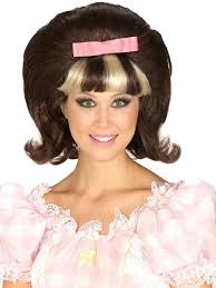 halloween blonde wigs 60 u0027s princess brown blonde combo wig buycostumes com