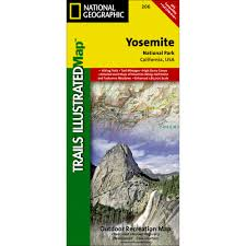 Yosemite Park Map 206 Yosemite National Park Trail Map National Geographic Store