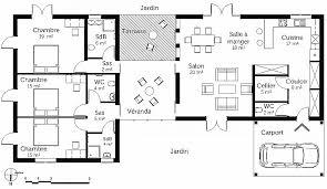 plan de maison de plain pied avec 4 chambres plan maison plain pied 120m2 4 chambres unique plan dune maison avec