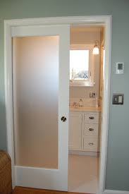 Interior Bathroom Door Frosted Glass Pocket Door Door Styles
