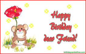 Birthday Day Cards Birthday Card For A Dear Friend Amazing Invitation Template