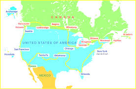 Oklahoma Map With Cities Usa Canada Map With States And Cities Cool Map Of Canada And