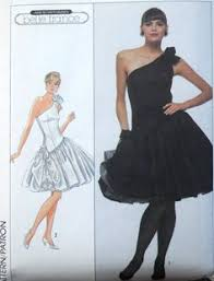 80s Prom Dress Size 12 Butterick 3583 Vintage 80s Soft Doll Sewing Pattern Boy Or