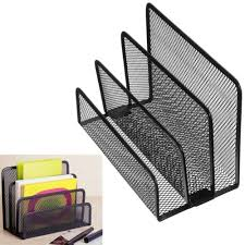 file holder for desk black office barbed wire 3 upright sections file format document