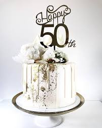 50th cake topper xoxo design happy 50th custom age cake topper