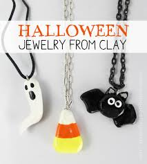 simple halloween jewelry from clay