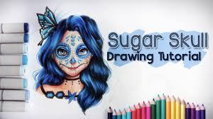 sugar skull drawing tutorial